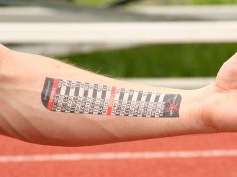 PaceTat Race Pacing Tattoo
